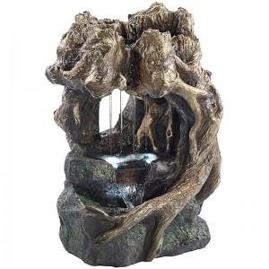 Fontaine d'intérieur cascades nature - grotte et racines