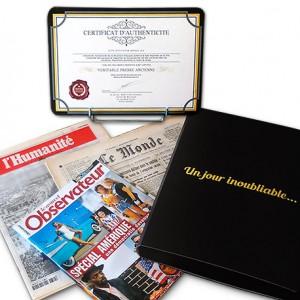 Offrez le véritable journal de votre naissance ! Offre standard
