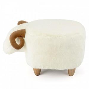 Tabouret pouf mouton
