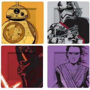 Assiettes Star Wars Ep 7 - Lot de 4