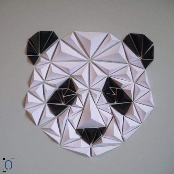 Panda en origami DIY - Made in France