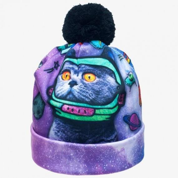 Bonnet Animal Freaks Chat dans l'espace