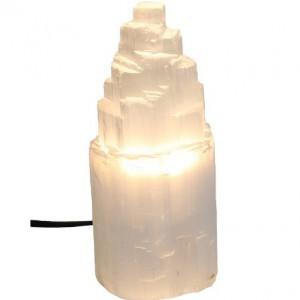 Lampe minérale en sélénite