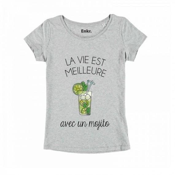 T-shirt Femme La vie est meilleure avec un mojito