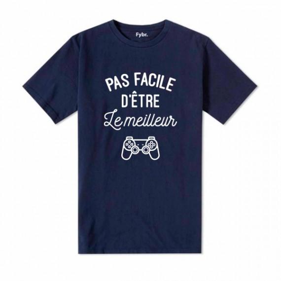 T-Shirt Playstation Manettes - Pas facile d'être le meilleur