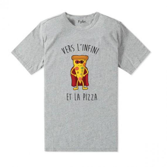 Le tshirt Pizza - Vers l'infini et la pizza