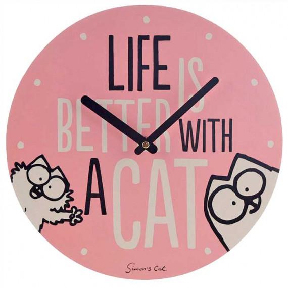 Horloge chat Simon's Cat