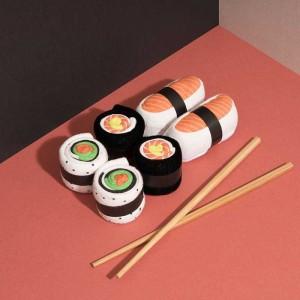 Chaussettes sushi et maki saumon (x3)