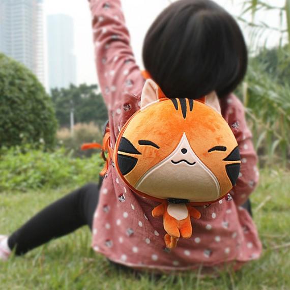 Sac à dos - Grosse tête de chat tigré roux