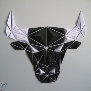 Tête de Buffle origami DIY - Made in France