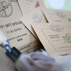 Coffret de graines BIO - Mon petit jardinier pour enfant