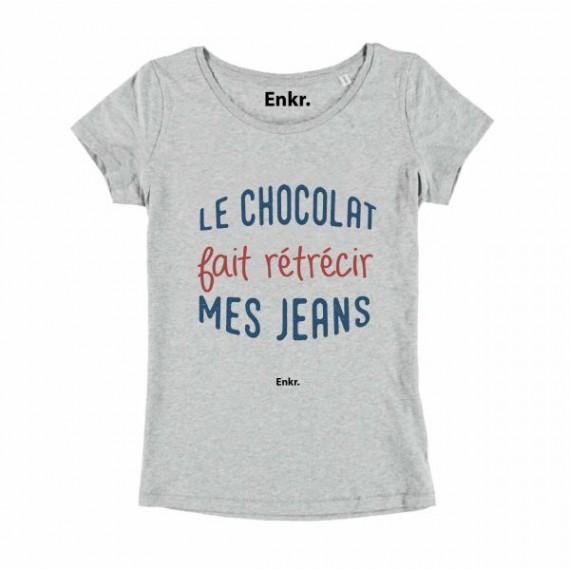 T-shirt Le Chocolat fait rétrécir mes jeans