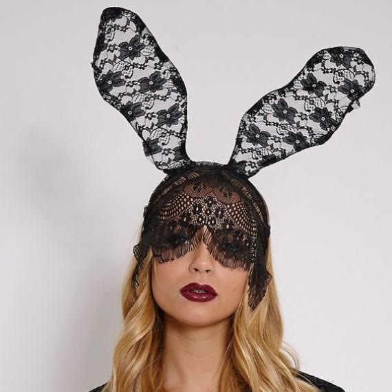 Serre-tête lapine sexy en dentelle