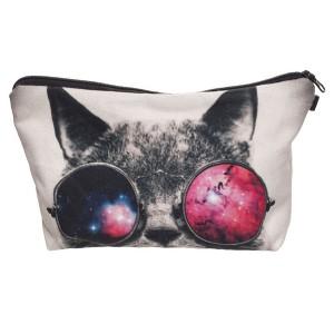 """Trousse imprimée 3D """"Chat aux lunettes de soleil"""""""