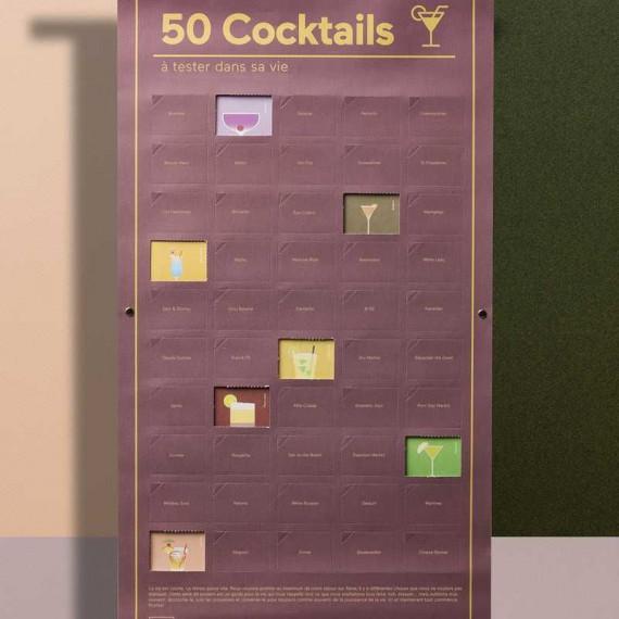 Poster 50 cocktails à goûter dans sa vie