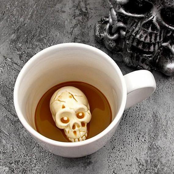 Mug avec crâne flippant