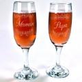 Duo flûtes à champagne Maman et Papa