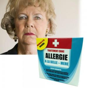 Médicament contre l'allergie à la belle-mère