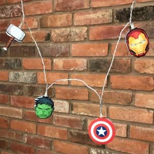 Guirlande lumières 2D Avengers Marvel