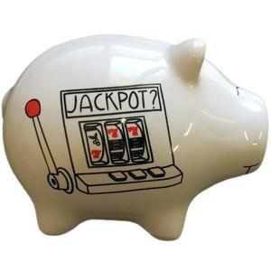 Tirelire Cochon Cagnotte pour les Vacances - Jackpot