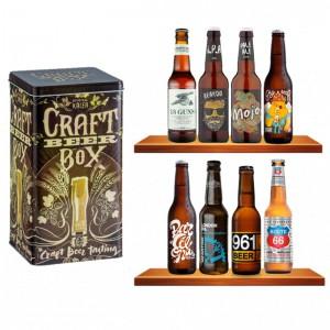 Box Boîte métal Craft et 8 Bières Crafts