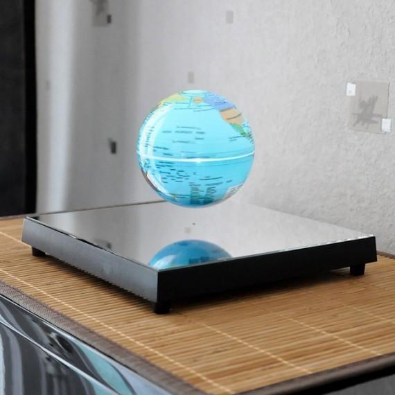 COSMIC BASE - Globe en lévitation sur base miroir lumineuse