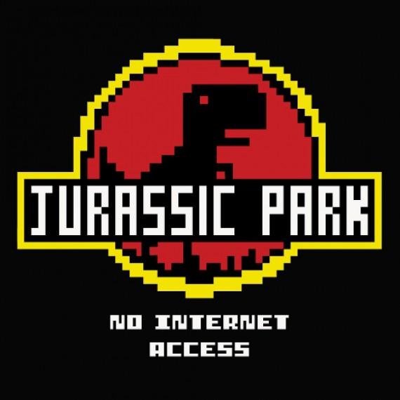 T-shirt Jurassic Park - No internet Access