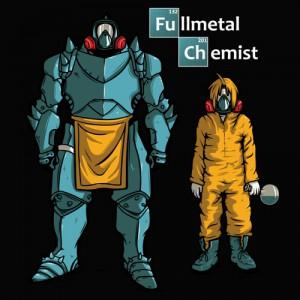 T-shirt Jesse Pinkman de Breaking Bad & Fullmetal Alchemist