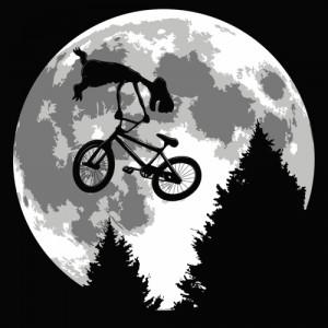 Tshirt E-T l'extraterrestre - Biking distressed