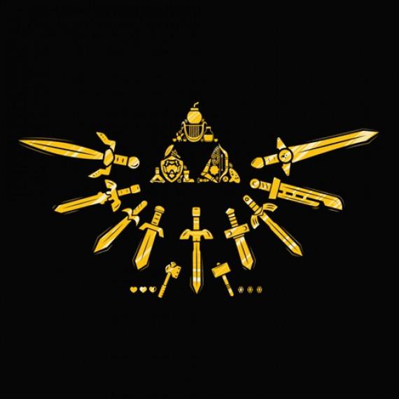 T-Shirt Triforce du Courage Zelda