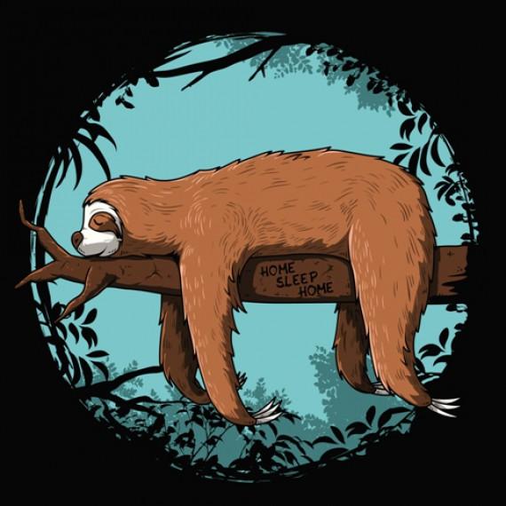 Tshirt paresseux - Home Sleep Home