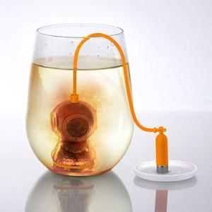 Boule à thé plongeur