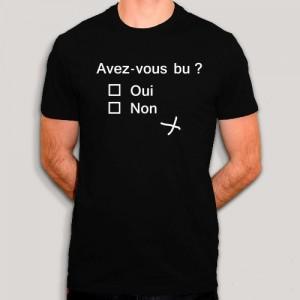T-shirt - Sondage : Avez-vous bu ?