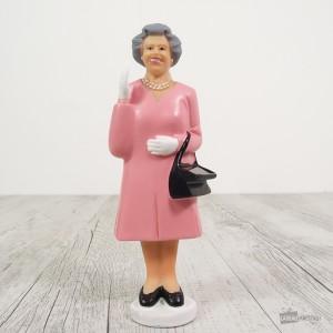 Figurine solaire de la Reine d'Angleterre