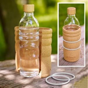 Bouteille Lagoena en verre avec coque de protection