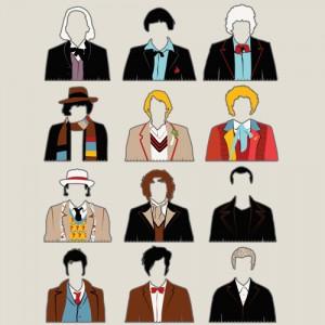 T-shirt Doctor Who - Les 12 docteurs