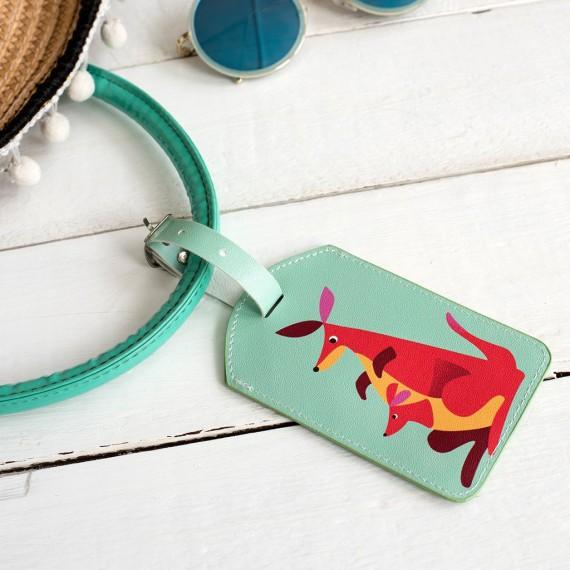 Étiquette de bagages - kangourou