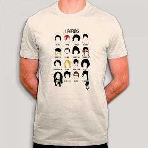 T-shirt - Les légendes de la musique