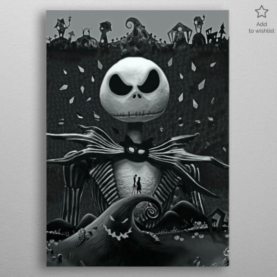 Poster en Métal - Jack Skellington - Etrange Noël de Monsieur Jack
