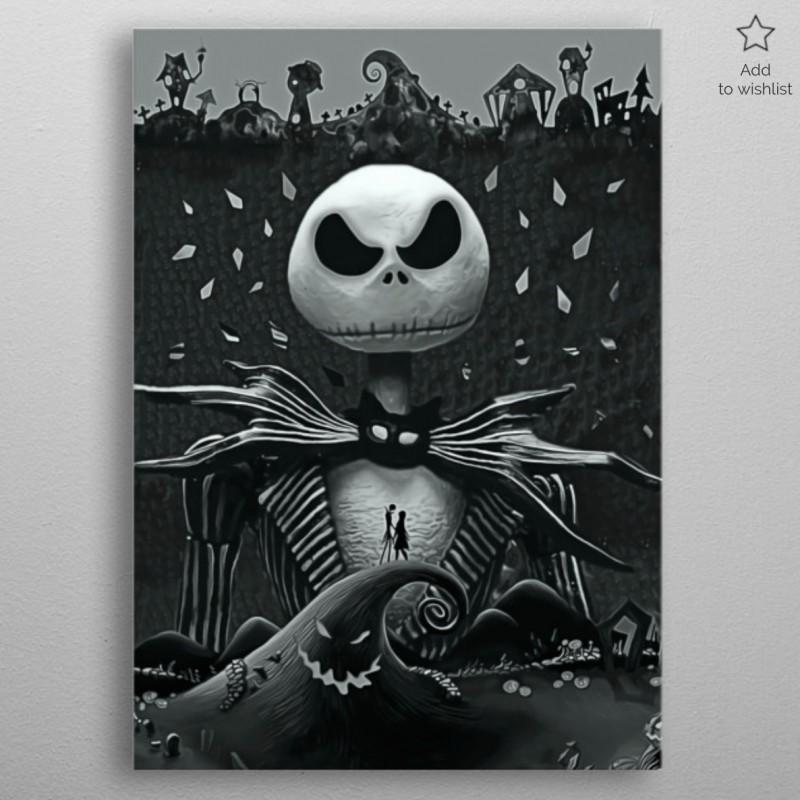 Poster En Métal Jack Skellington