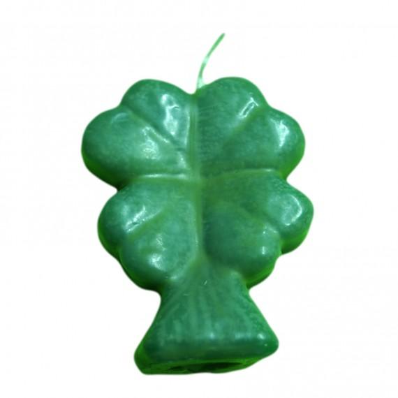 Bougie - Trèfle vert à quatre feuilles