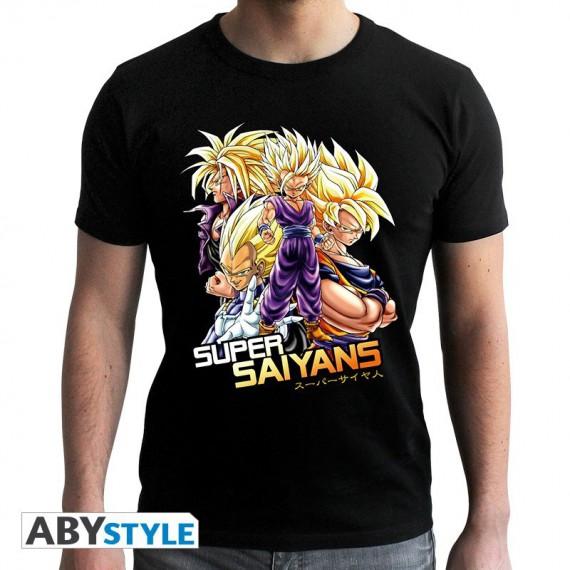 Tshirt Dragon Ball Z Super Saiyans