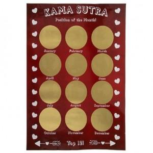 Le poster à gratter kamasutra