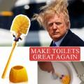 Brosse de toilettes Trump