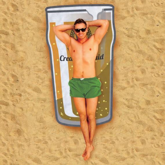 Serviette de plage géante bière
