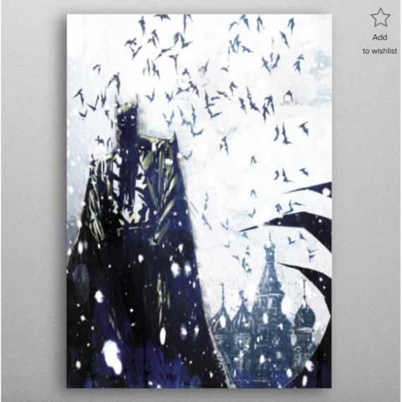 Panneau en Metal Batman - Noir et blanc