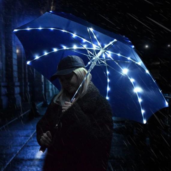 Le parapluie avec lumière intérieure