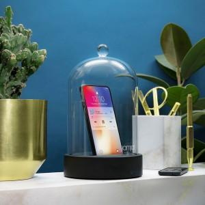 Enceinte Cloche en Verre Bluetooth
