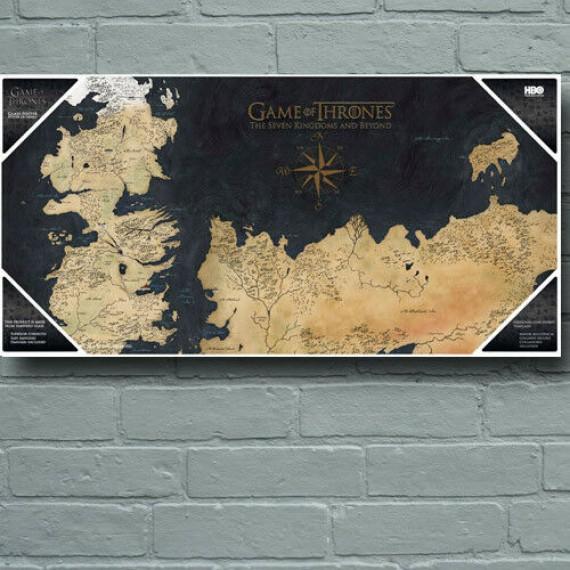 Poster en verre Westeros Game of Thrones