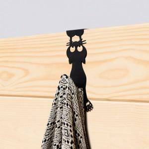 Porte-manteau chat curieux